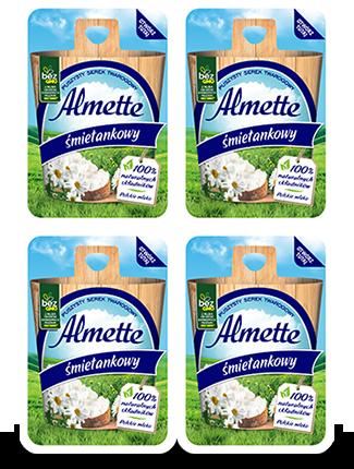 Mini Almette śmietankowy