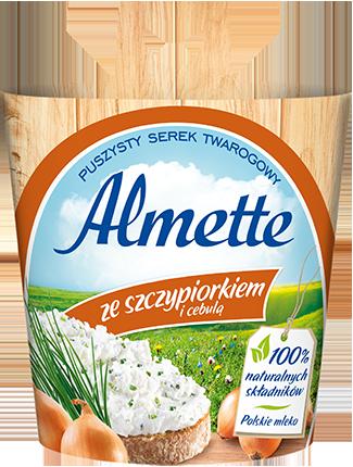Almette ze szczypiorkiem i cebulą