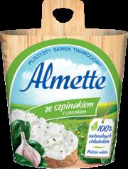 Almette ze szpinakiem i czosnkiem
